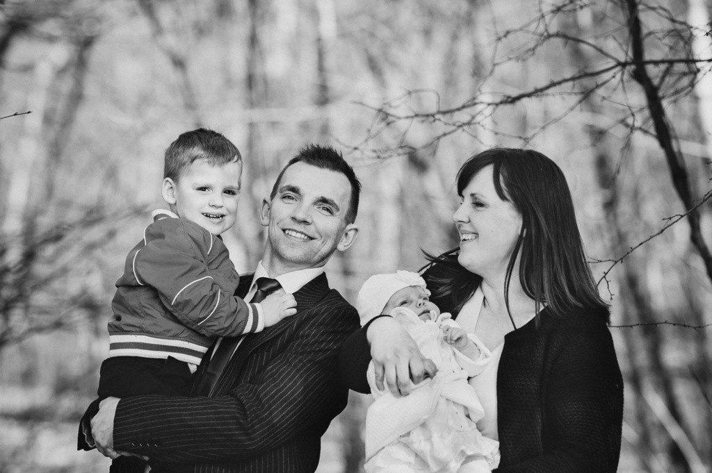czarno-biały portret rodzinny